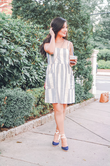 Jadoregrace.com // July Goals for Boston and Comfy Striped Blue Dress