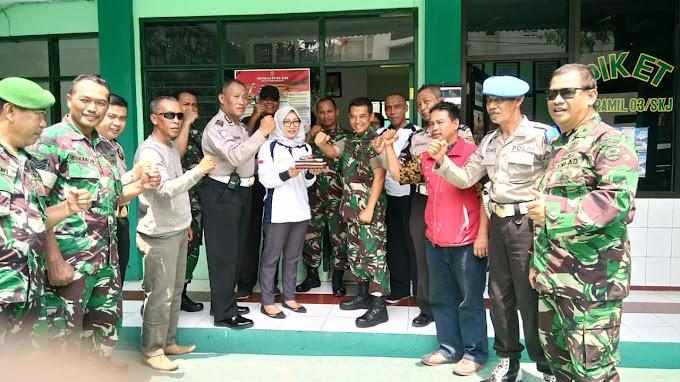 HUT TNI ke-73, Samsat Depok Berikan Surprise ke Koramil Sukmajaya