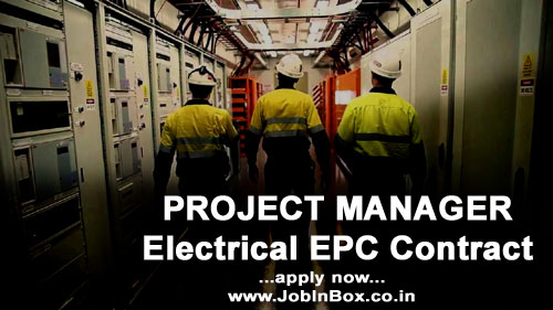 Electrical EPC Project Manager Job Vacancy