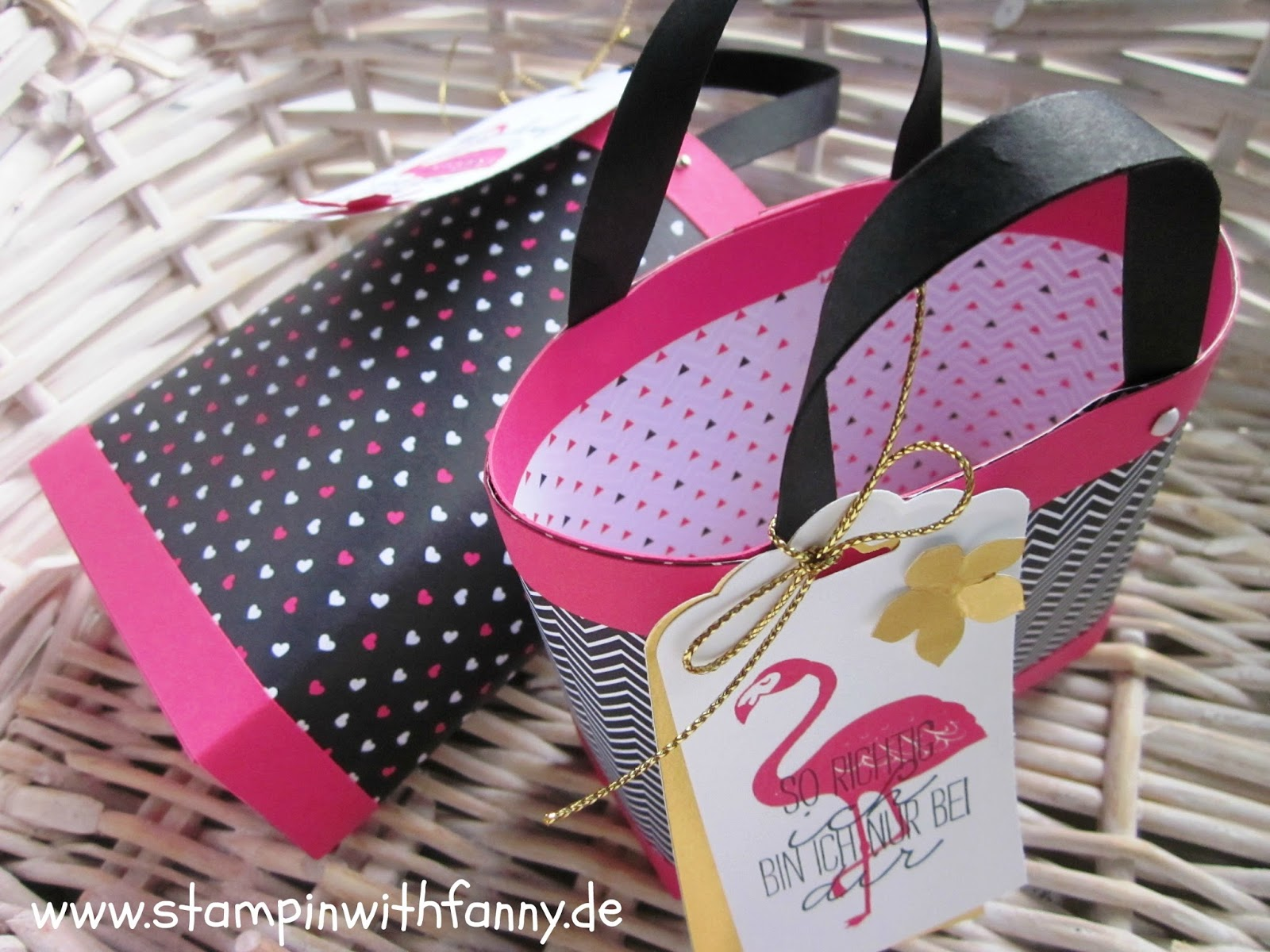 stampin with fanny mini handtasche box in a bag f r die. Black Bedroom Furniture Sets. Home Design Ideas