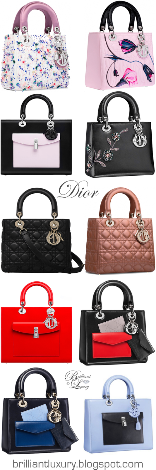 Brilliant Luxury ♦ Dior 'Lady Dior' Bag Collection