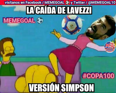 memes copa america argentina estados unidos caida lavezzi