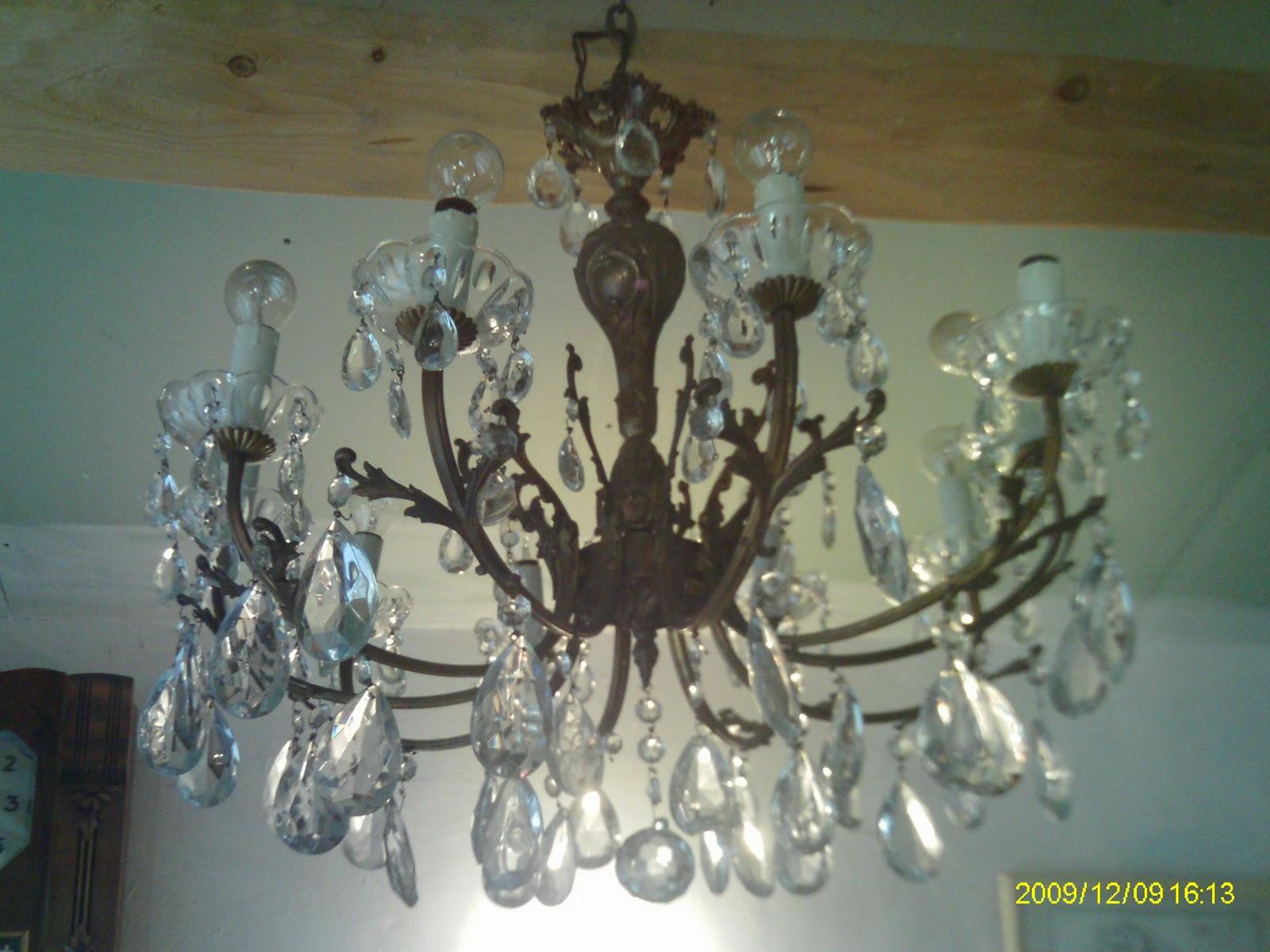 ancien immense lustre a pampilles marie theres 10 bras de lumiere. Black Bedroom Furniture Sets. Home Design Ideas