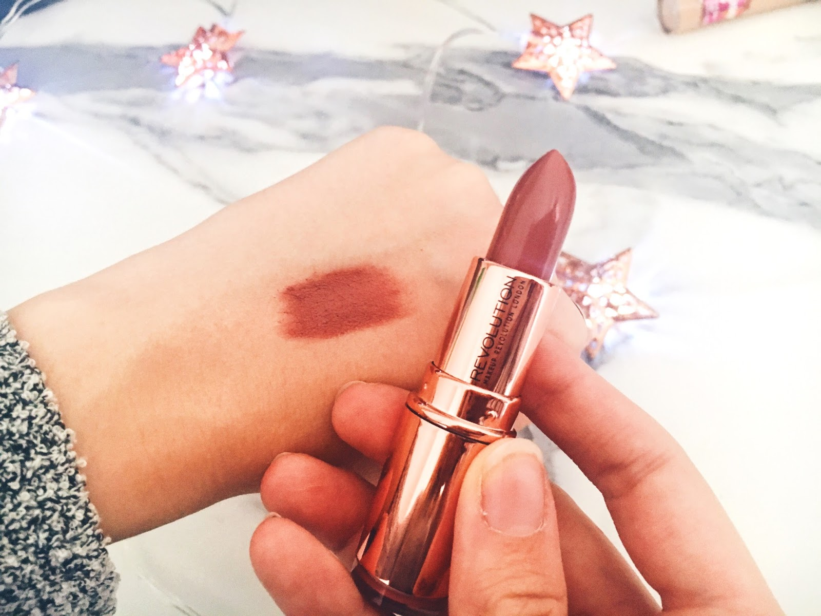 An Autumnal Superdrug Haul - New Drugstore Releases Makeup Revolution Rose Gold Lipstick in Chauffeur