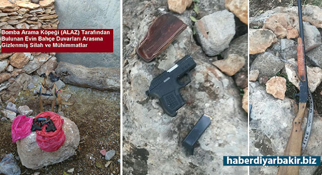 DİYARBAKIR-Diyarbakır Dicle ilçesi Kaygısız köyünde şüpheli bir kişinin evinde yapılan aramalarda çok sayıda kaçak silah ve mühimmatı ele geçirildi. Aramalarda bu işte elde ettiği iddia edilen 68 bin TL ve 10 altın bilezik ele geçirilirdi.