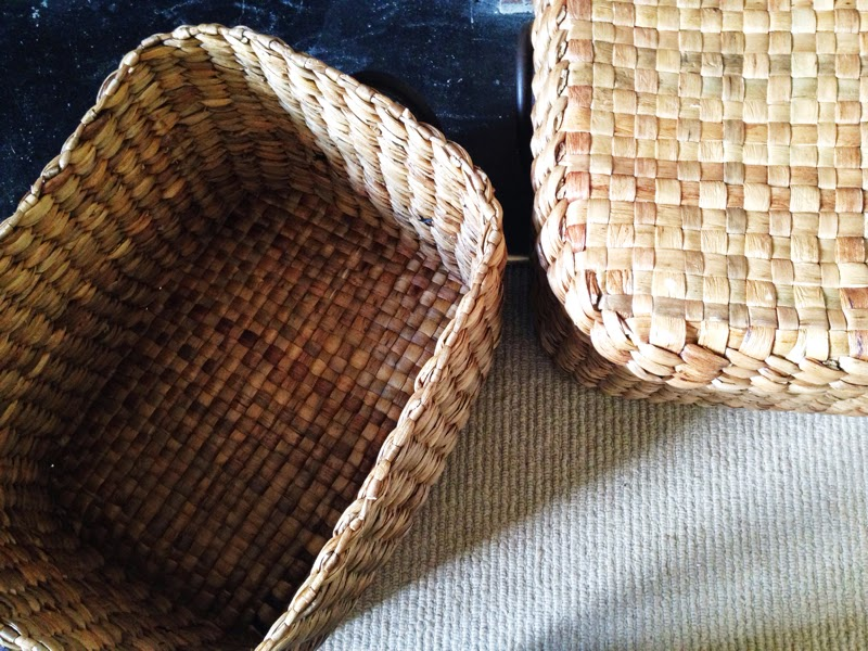 Woven storage baskets from Laura Ashely