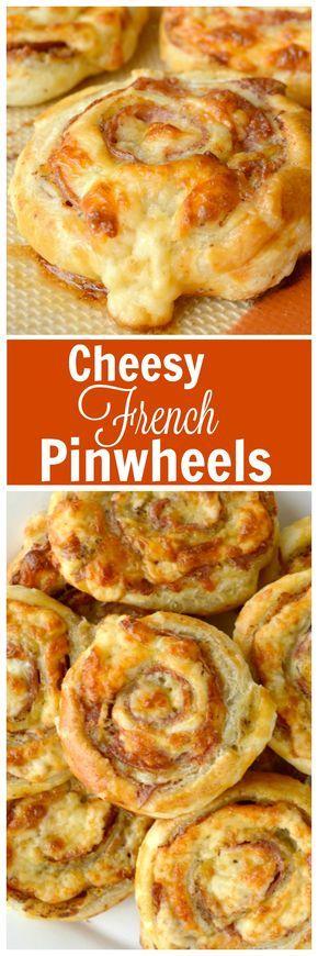 Cheesy French Pinwheels Recipe