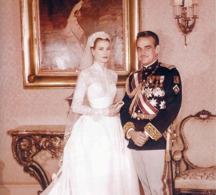casas y familias reales: mónaco - boda de rainiero y grace