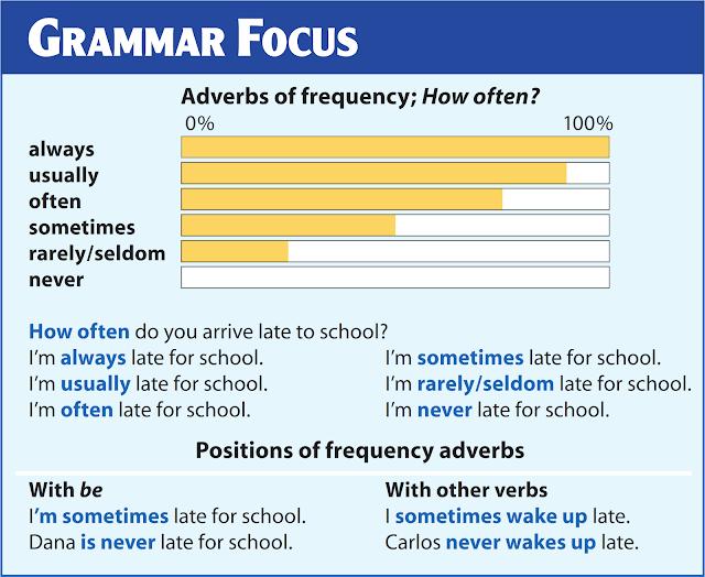 ملصقات التركيز القواعد Grammar Focus - Adverbs of Frequency - How Often.png