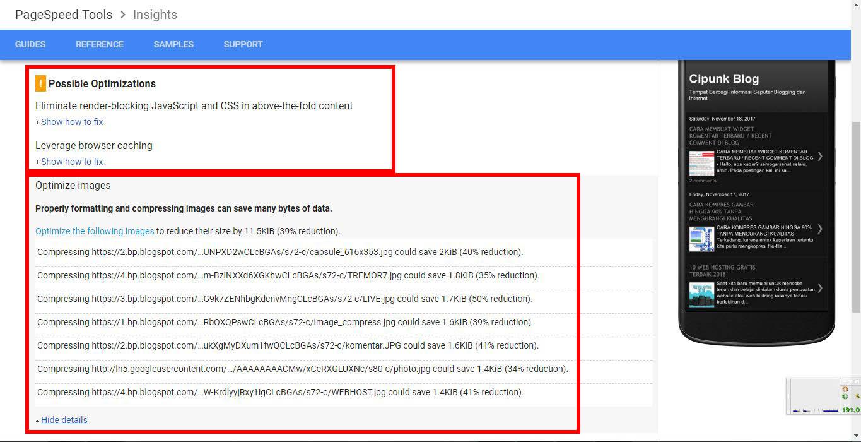 situs test kecepatan loading halaman web blog