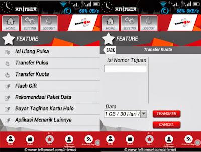 Cara Transfer Kuota Internet 4G Telkomsel ke Simpati dan Kartu As