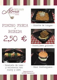 Pinchos de Ferias y Fiestas Valladolid 2016