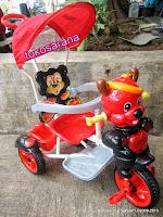 Sepeda Roda Tiga Kid Love Tupai Safety Bar dengan Penahan Ekstra 2