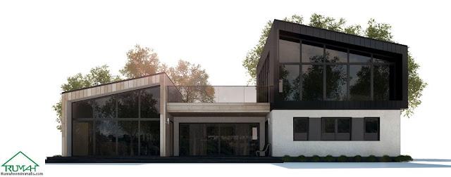 Denah Model Desain Gambar Rumah Minimalis Idaman Modern Tipe 285