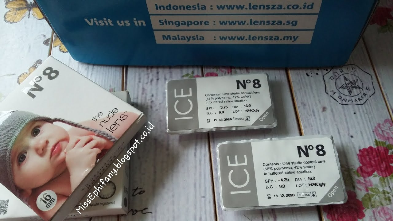 X2 Ice Nude N8 Softlens Blue Free Lenscase Cairan 60 Ml Lazada Grosir Name No8 The Lens In Grey