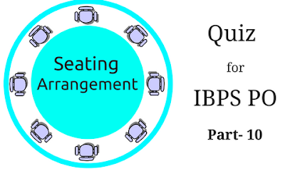 Seating Arrangement Quiz For IBPS PO Part- 10