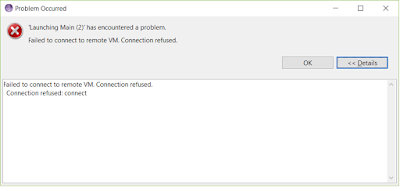 Failed to connect to remove VM - Connection refused: connect error