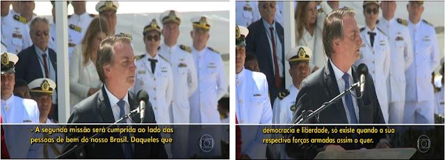 Fala de Bolsonaro aos militares é recado para os que estão querendo um Brasil Anárquico  (sem ordem)