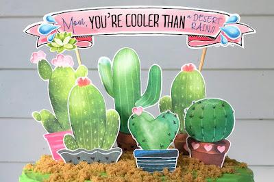 cactus cake topper printable