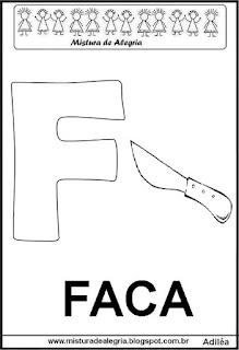 Alfabeto cartaz letra F