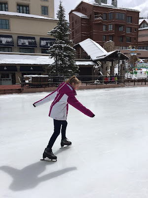 Girl Ice Skating in Beaver Creek Village | Live The Prep Life