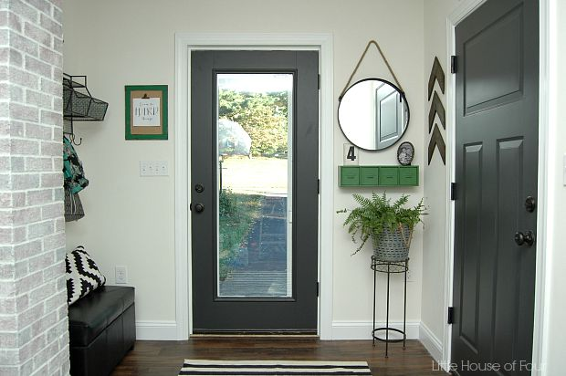 dark gray doors foyer