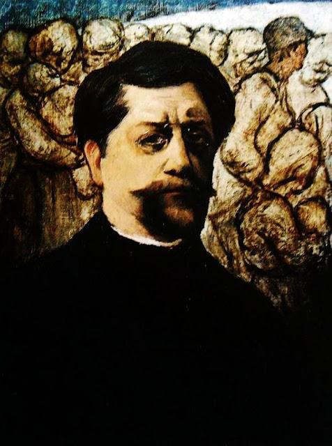 Eugene Laermans, Self Portrait, Portraits of Painters, Fine arts, Portraits of painters blog, Paintings of Eugene Laermans, Painter Eugene Laermans