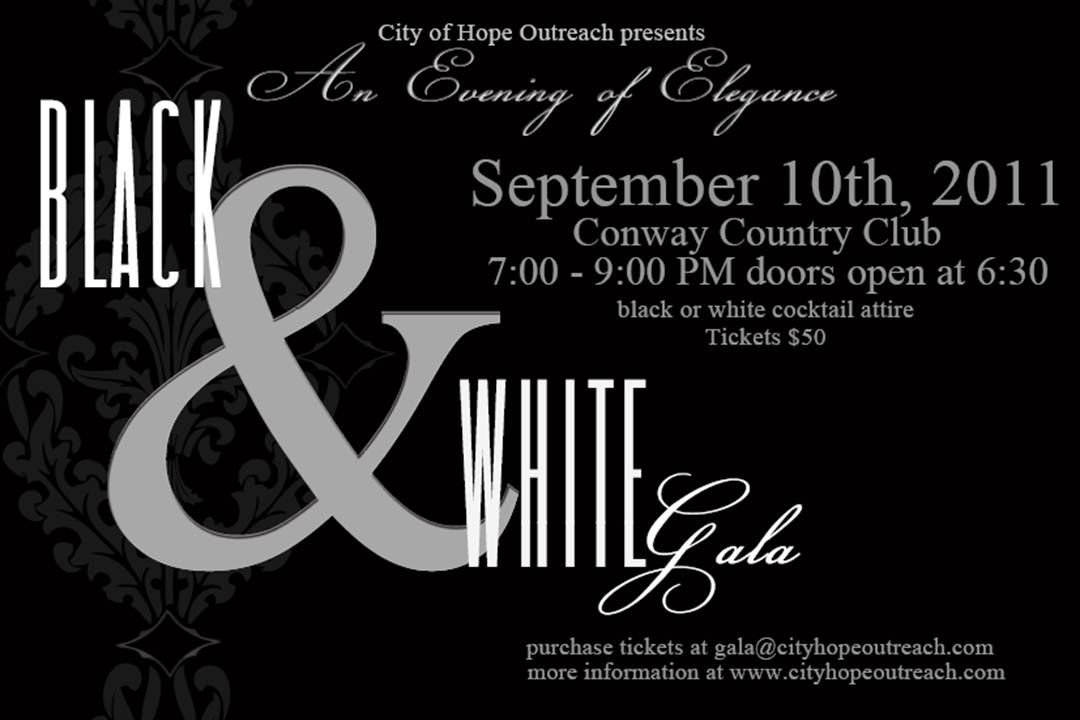 Woman On the Vine: An Evening of Elegance: Black and White Gala