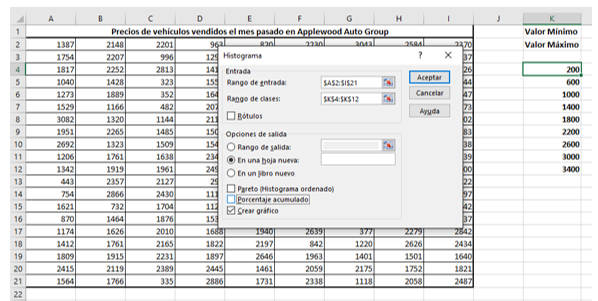 Crear Histograma en Excel