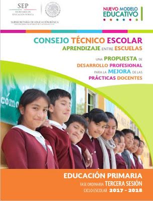 Guías de Consejo Técnico Escolar - Preescolar, Primaria y Secundaria - Tercera Sesión