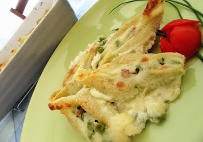 Zapečena tjestenina s graškom / Baked pasta with peas