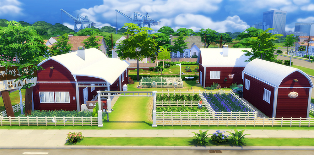 Sims  Make Farm Seprate From Home