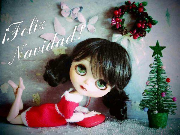 Caty Blythe felicitando la navidad