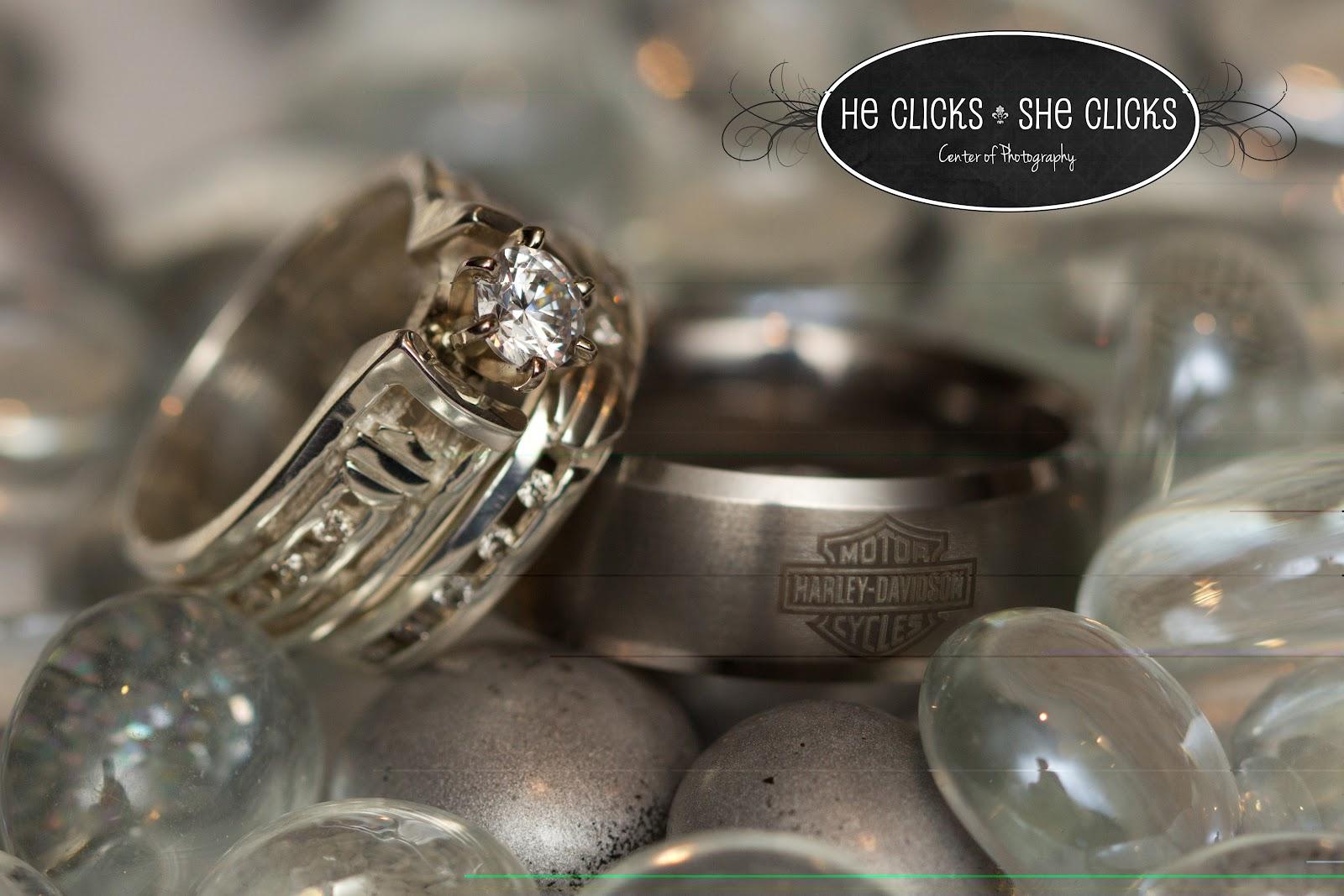 Harley Davidson Wedding: He Clicks-She Clicks Center Of Photography: John And