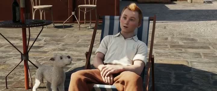 Screen Shot Of The Adventures of Tintin (2011) Dual Audio Movie 300MB small Size PC Movie