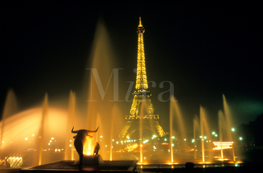 Paris Paris France at Night