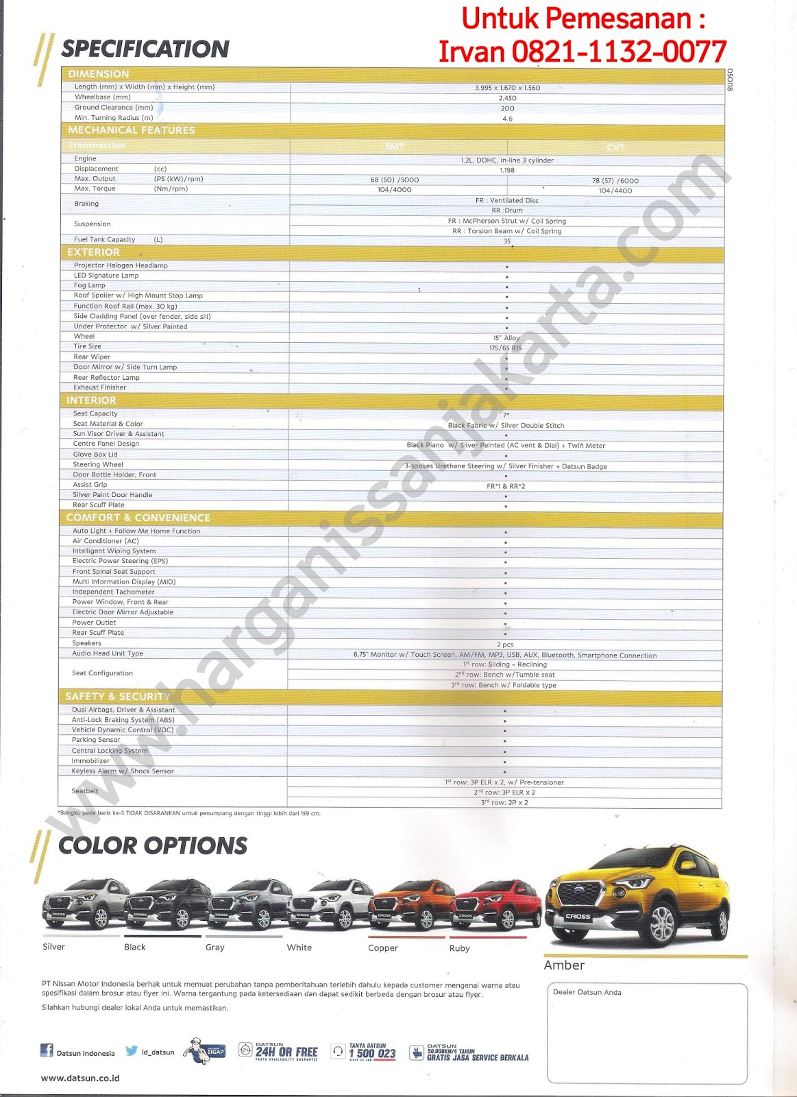 Brosur Katalog Datsun Cross 2018