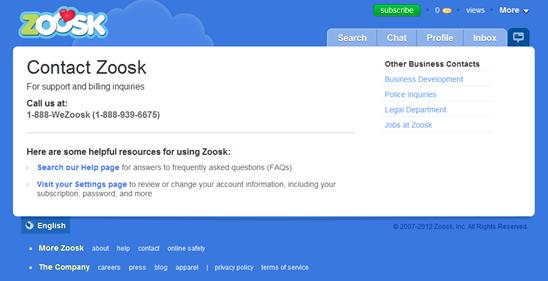 Zoosk online dating phone number