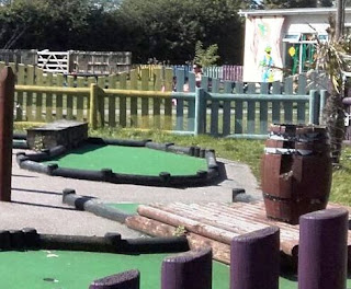 Sailing Through The Ages minigolf course at Pontins Pakefield Holiday Park. Photo by Sophia and Karl Moles, September 2017