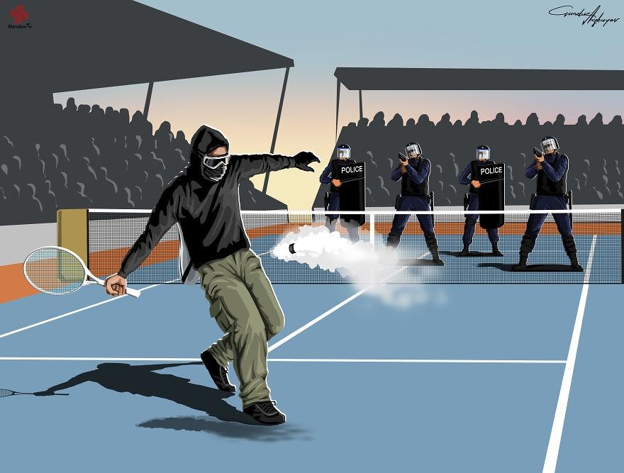 10-Gunduz-Agayev-Satirical-Illustrations-Shine-a-Light-on-Complex-Problems
