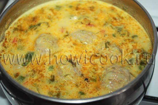рецепт тефтелей в подливе со сметаной с пошаговыми фото