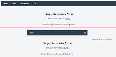 Simple menu responsive