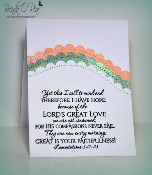 ODBD Scripture Collection 1, Card Designer Brenda O'Rear aka Benzi