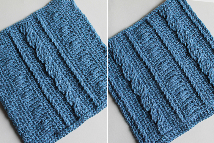 Reversible Crochet Cable, Front and Back Square 9 of 10 of the Crochet Along Afghan Sampler on The Inspired Wren