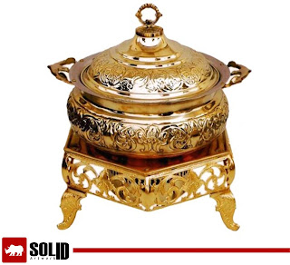 brass flower chafing dish