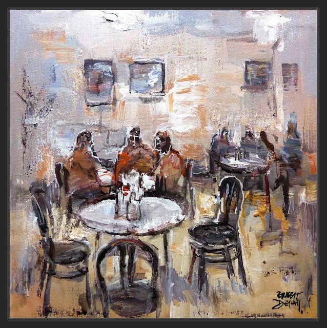 PRAGA-PINTURA-ARTE-CAFETERIA-MILENA-CAFE-FRANZ KAFKA-CAFETERIAS-INTERIOR-PAISAJES-CUADROS-ARTISTA-PINTOR-ERNEST DESCALS