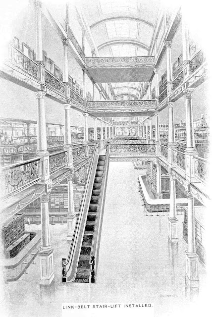 An 1880s shopping mall interior layout is the same as now