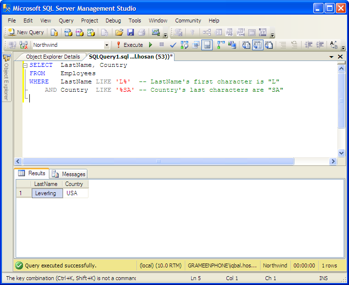 Restful web services tutorial 5 create employee database in ms.