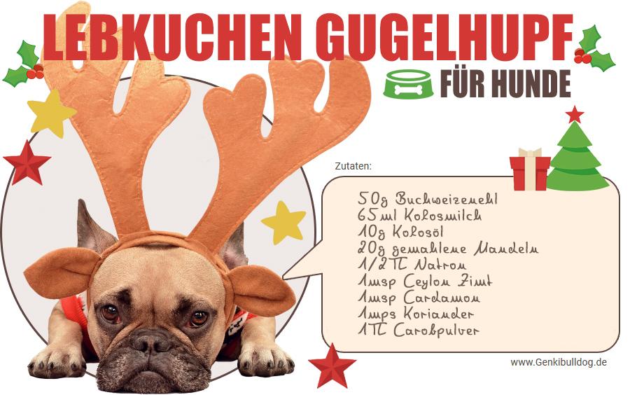 Hundekekse Hundekuchen zu Weihnachten selbst backen Rezept für Lebkuchen Gugelhupf für Hunde