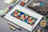 Luyện thi khối H1 - Học vẽ Trang Trí Màu ở Zest Art